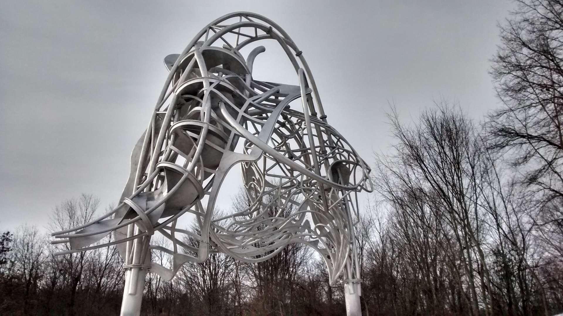 Kunstwerk van Frank Stella door Scheepswerf Bijlsma