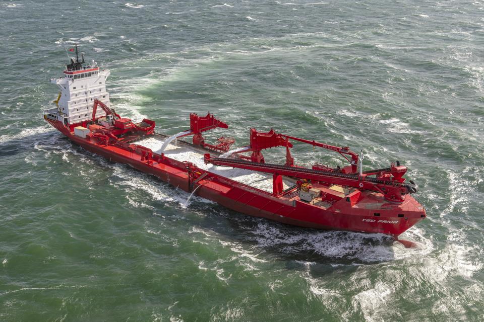 Schip de Yed Prior op zee