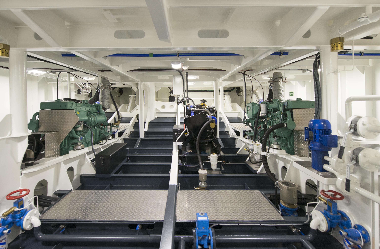 Interieur van het schip de Sandoyne Lass