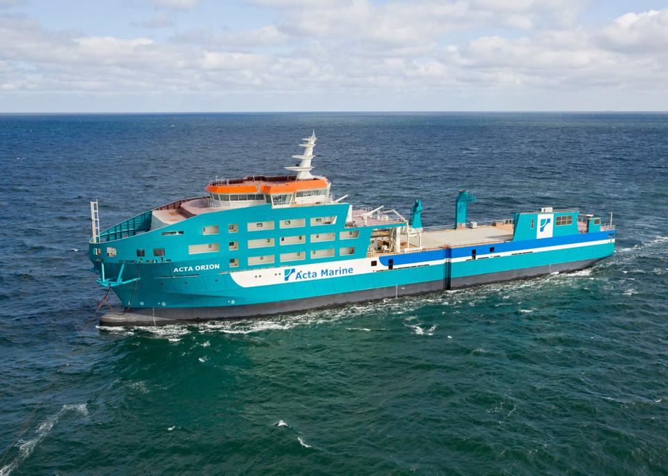 Schip de Acta Orion op zee