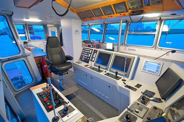 Interieur van het schip de Coastal Chariot